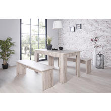Lot comprenant 1 table et 2 bancs