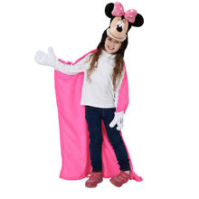 Plaid à capuche en polaire Minnie Mouse